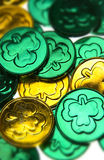 St Patricks Day coins Stock Image