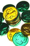 St. Patricks Day coins Royalty Free Stock Photos