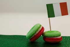 St. Patricks Day cookies with irish flag Stock Images