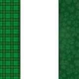 St Patricks Day Cover Cloverleafs Tartan Oblong Banner Royalty Free Stock Photos