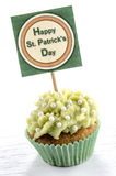 St patricks day cupcake Stock Photo