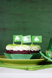 St Patricks Day cupcakes Stock Images
