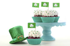 St Patricks Day Cupcakes Royalty Free Stock Photos