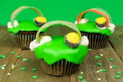St Patricks Day cupcakes Royalty Free Stock Photos
