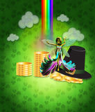 St Patricks day design with fairy Royalty Free Stock Photography