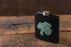 St. patricks day drinking flask Stock Photos