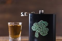 St. patricks day drinking flask Royalty Free Stock Images