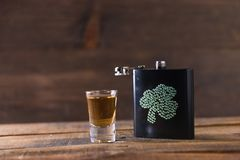 St. patricks day drinking flask Royalty Free Stock Photo