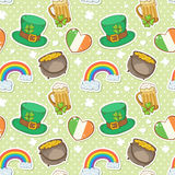 St Patricks Day elements seamless pattern Stock Image