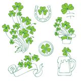 St. patricks day elements set Royalty Free Stock Image