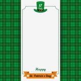 St Patricks Day Emblem Oblong Banner Tartan Royalty Free Stock Photography