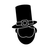 St patricks day face leprechaun pictogram Stock Photo