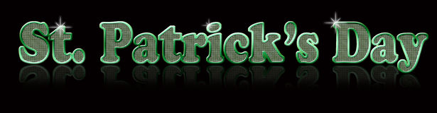 St. Patricks Day. Festive, glittery St. Patricks Day holiday text, created in Photoshop Stock Photography