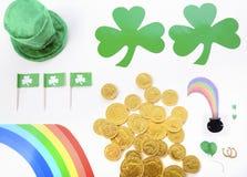 St Patricks Day Flat Lay Royalty Free Stock Photo