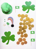 St Patricks Day Flat Lay Royalty Free Stock Images