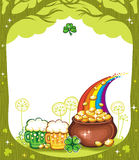 St. Patricks Day frame Royalty Free Stock Images