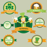 St.Patricks Day frame banner elements Stock Photography