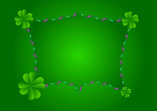St patricks day frame border background Royalty Free Stock Photography