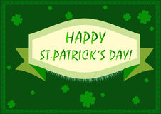 St patricks day frame border background Royalty Free Stock Photos