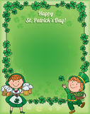 St. Patricks Day frame Stock Image