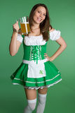 St Patricks Day Girl. St Patricks day beer girl Stock Photo