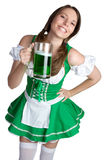 St Patricks Day Girl Stock Photography