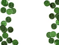 St Patricks Day green background with copy space. Frame stock photography