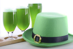 St Patricks Day green beer Stock Images