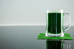 St Patricks Day green beer on napkin Royalty Free Stock Image