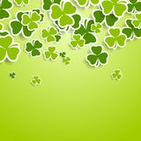 St. Patricks Day green clovers abstract background. Vector graphic design Royalty Free Stock Photo