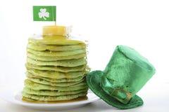 St Patricks Day green pancakes Stock Image