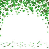 St. Patricks Day Green Shamrocks Cover. Vintage cover with shamrocks for St. Patrick's Day Stock Photo
