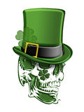St Patricks Day Green Skull Leprechaun Hat Stock Photos