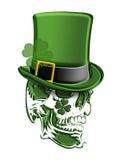 St Patricks Day Green Skull Leprechaun Hat Stock Photos