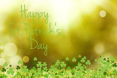 St patricks day greeting. On bright background Stock Images