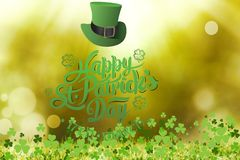 St patricks day greeting. On bright background Royalty Free Stock Photo