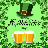 St. Patricks Day greeting card Royalty Free Stock Images