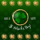 St. Patricks Day greeting card stock illustration