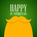 St. Patricks Day greeting card. Vector illustration. EPS 10 Royalty Free Stock Images