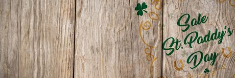 St Patricks Day Greeting. Digital composite of St Patricks Day Greeting royalty free stock photo