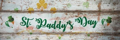 St Patricks Day Greeting. Digital composite of St Patricks Day Greeting royalty free stock images