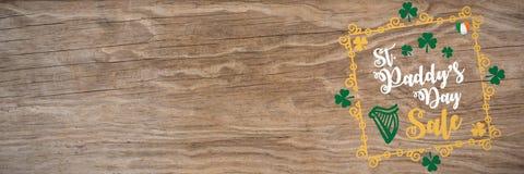 St Patricks Day Greeting. Digital composite of St Patricks Day Greeting royalty free stock photography