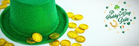St Patricks Day Greeting. Digital composite of St Patricks Day Greeting stock photos