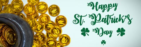 St Patricks Day Greeting. Digital composite of St Patricks Day Greeting vector illustration