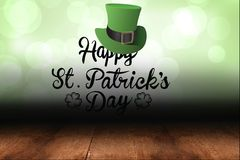 St patricks day greeting. On green background Stock Photos