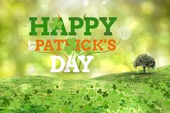 St patricks day greeting. On green background Stock Image