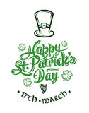 St patricks day greeting vector Stock Photography