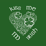 St patricks day greeting vector Royalty Free Stock Image