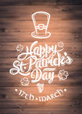 St patricks day greeting vector Stock Image