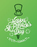 St patricks day greeting vector Stock Photos